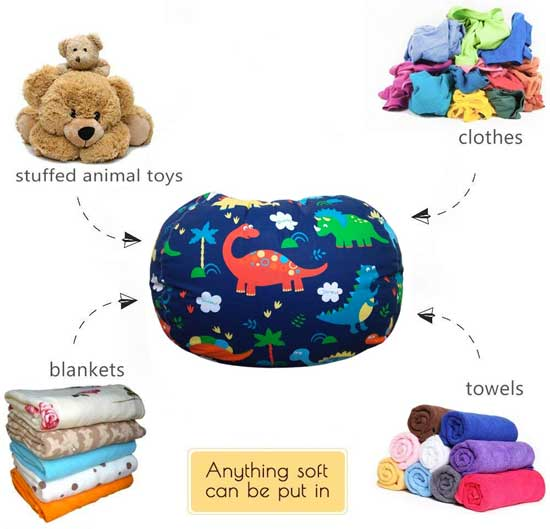 Superb Why You Need A Dinosaur Stuffed Animal Storage Bean Bag Chair Squirreltailoven Fun Painted Chair Ideas Images Squirreltailovenorg