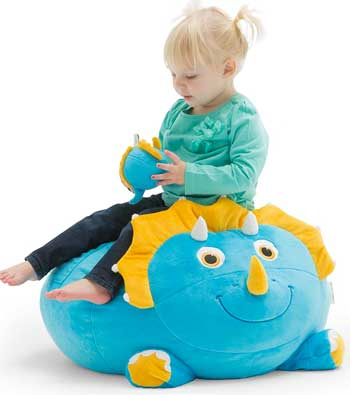 Triceratops Stuffed Animal Bean Bag Chair For Kids